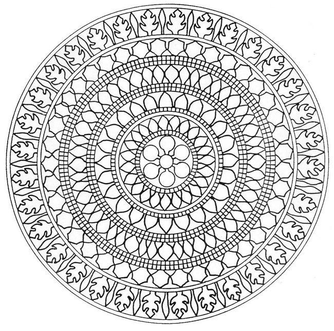 Mandala disegni da colorare - Coloriage relief ...
