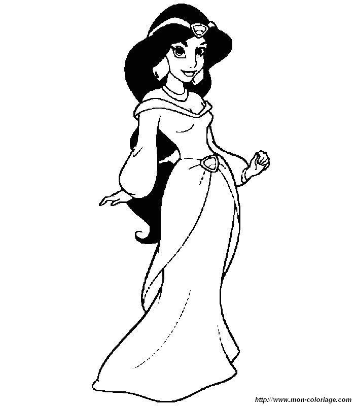 Colorare Aladdin Disegno Disegni Aladdin