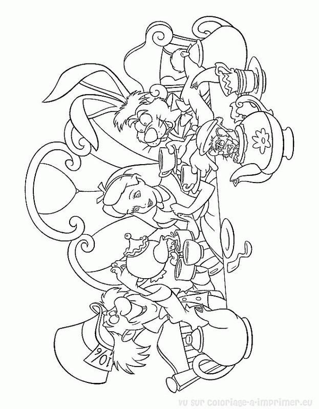 Colorare Alice Nel Paese Delle Meraviglie Disegno Il Cappellaio Il