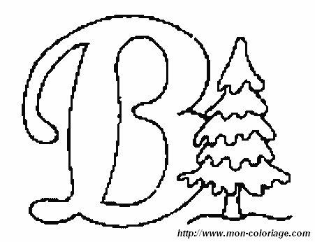 Colorare Alfabeto Di Natale Disegno Lettera B Natale