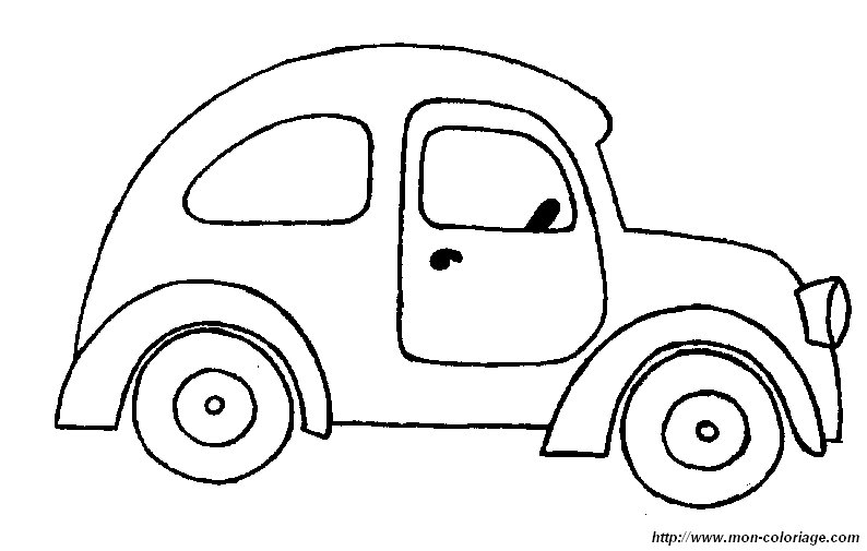 Colorare automobile disegno auto 22 - Profili auto per colorare ...