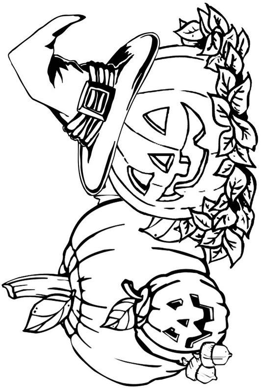 Colorare Autunno Disegno Zucche Per Halloween Da Colorare