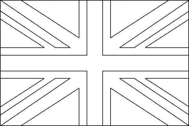 Bandiera Inglese Da Colorare.Colorare Bandiera Disegno Inghilterra