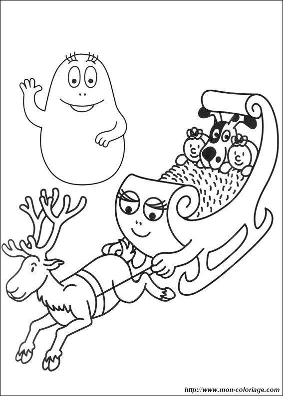 colorare barbapapà disegno barbapapa 001