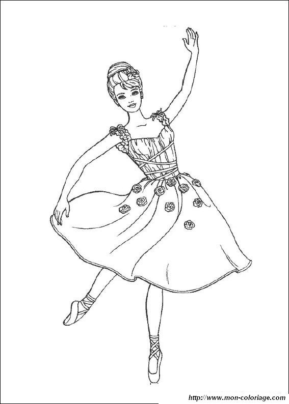 Colorare barbie disegno ballerina bella barbie for Barbie ballerina coloring pages