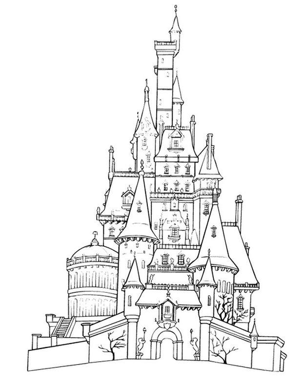 Castello Di Frozen Da Colorare