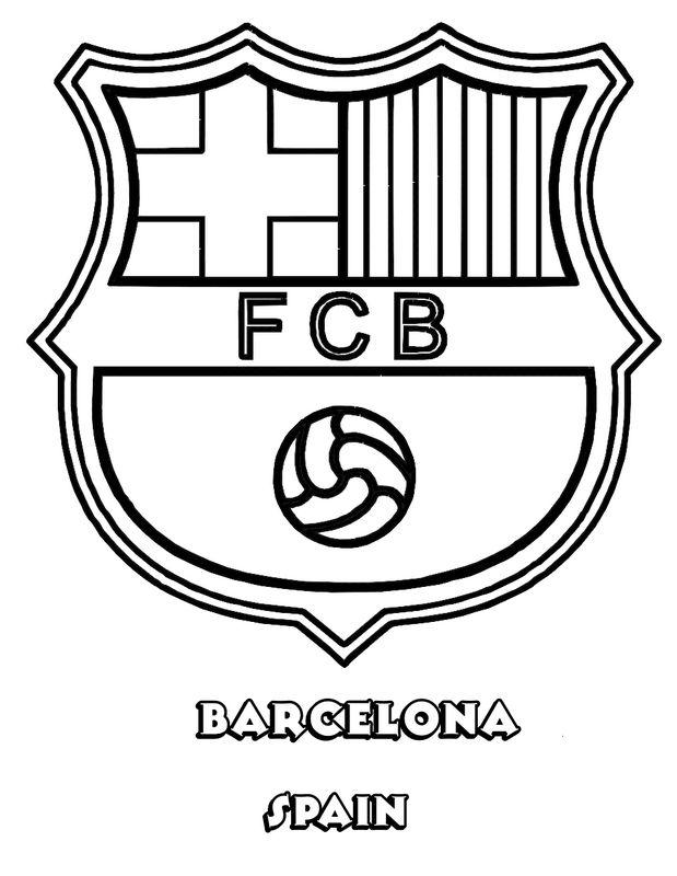 Colorare Calcio Disegno Fc Barcelona