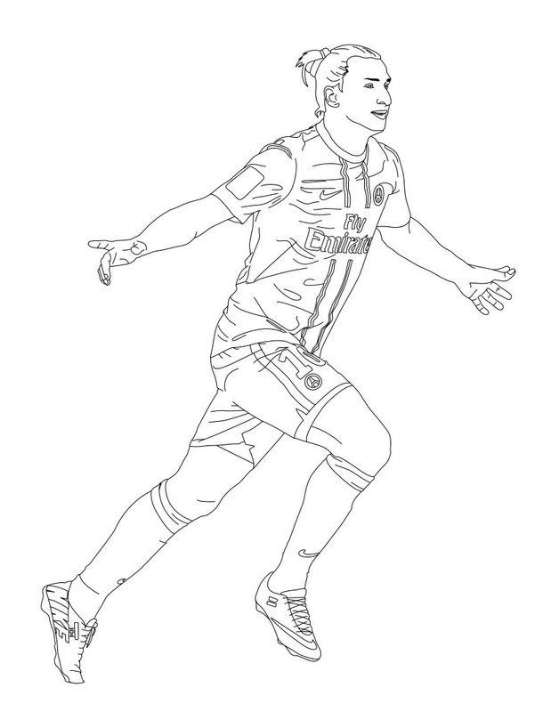 Colorare Calcio Disegno Zlatan Ibrahimovic