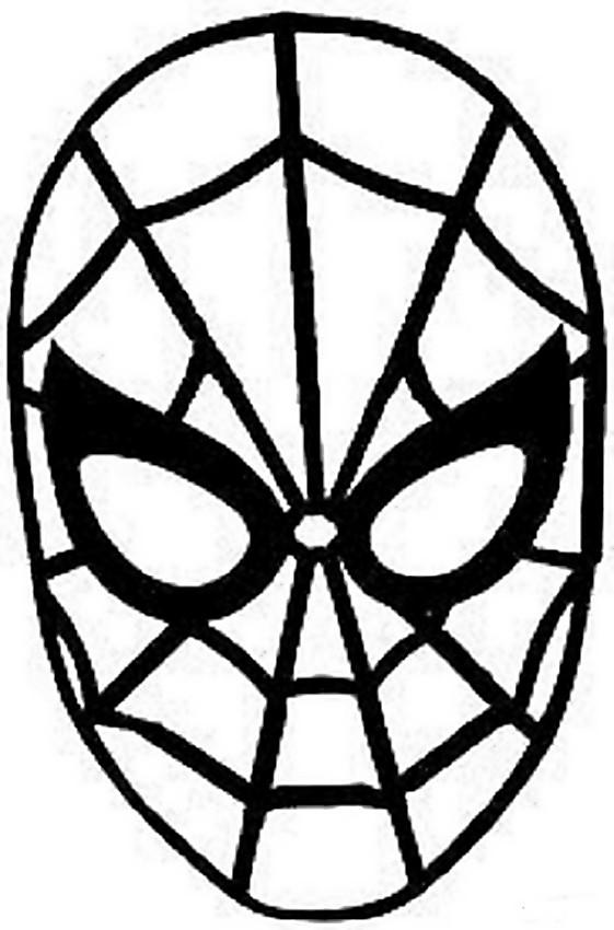 Colorare Carnevale Disegno Maschera Di Spiderman
