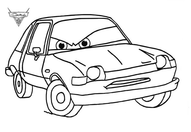 Kleurplaat Cars 2 Finn Mcmissile Colorare Cars Disegno Acer Infelice