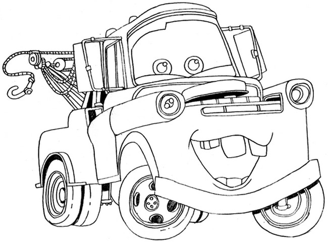 mater from cars coloring pages | Colorare Cars, disegno Cricchetto