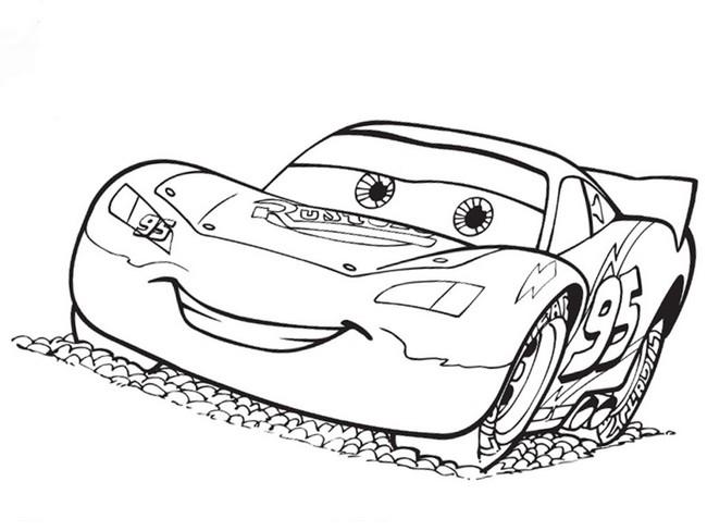 disegni da colorare cars saetta mcqueen