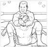 Disegni da colorare di wrestling