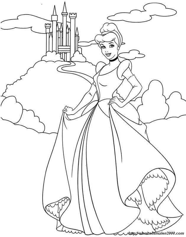 Colorare Cenerentola Disegno Il Castello Di Cenerentola