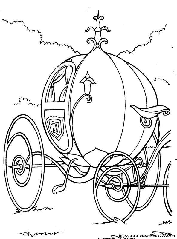 Colorare Cenerentola Disegno Zucca Diventa Carrozza