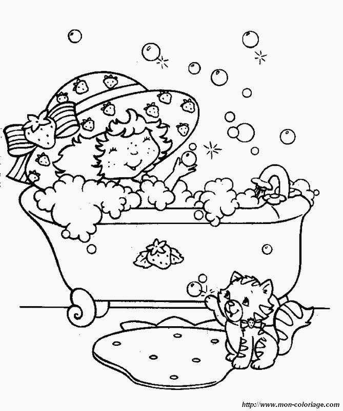 Colorare fragolina dolcecuorea disegno fragolina for Suo e suo bagno
