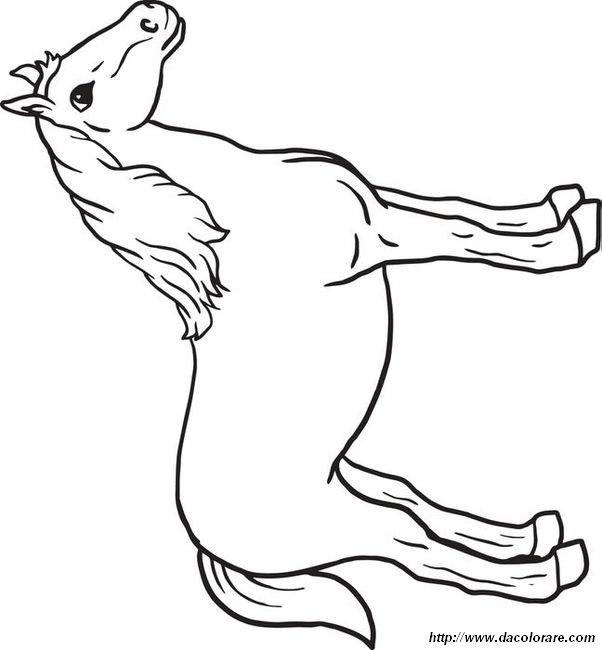 Colorare cavallo disegno colorare un cavallo amichevole for Disegno cavallo per bambini