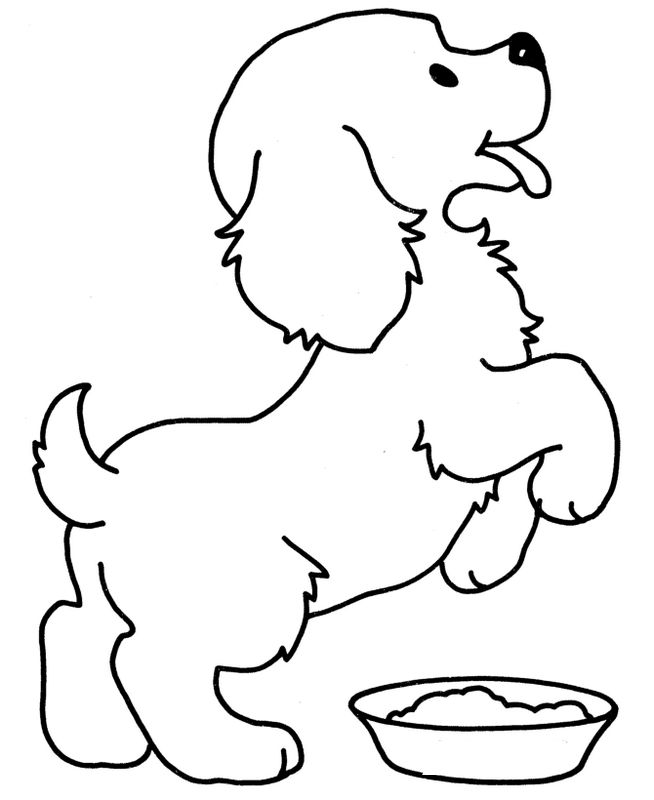 Colorare cane disegno un cane felice ma affamati - Colorazione immagine di un cane ...
