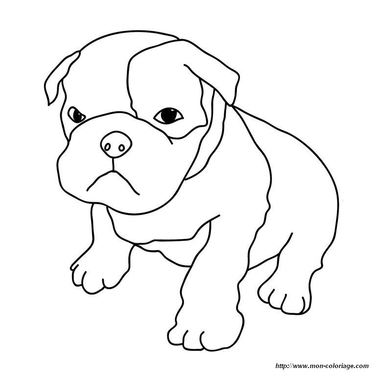 Colorare cane disegno cucciolo boxer for Cane disegno facile