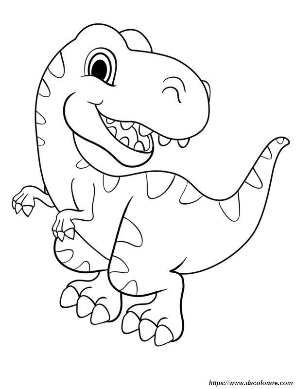 Colorare Dinosauro Disegno Sono Un Bravo Dinosauro