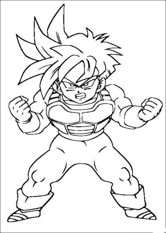 Colorare Dragon Ball Z Disegno Goku Comincia A Crescere