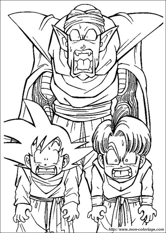 Colorare Dragon Ball Z disegno