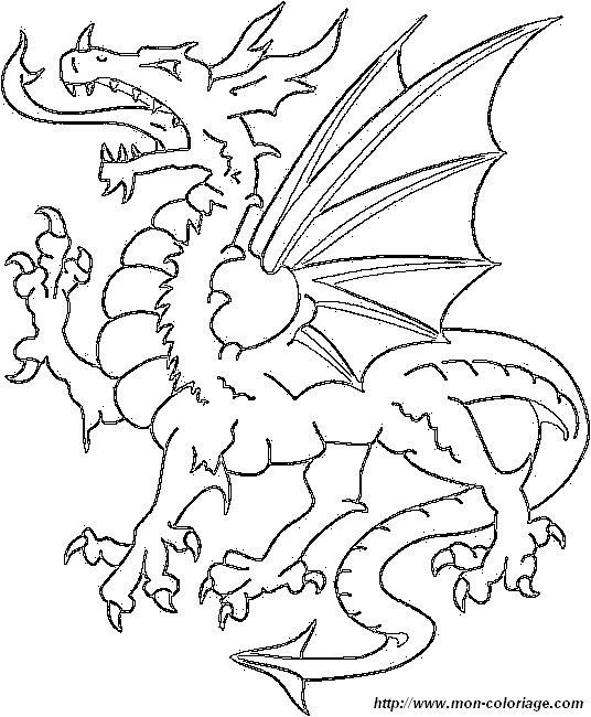 Colorare Dragone Disegno Drago 2