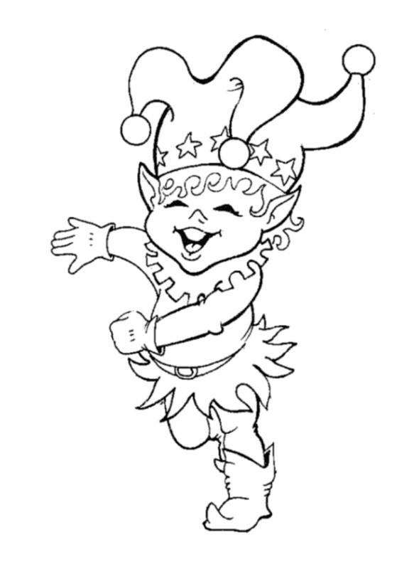 Colorare elfi disegno il giullare for Giullare da colorare