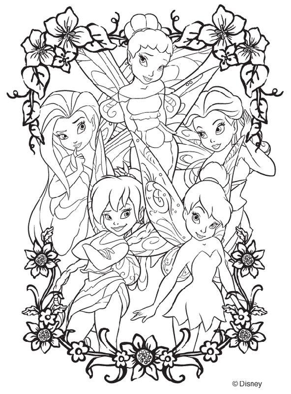 Colorare Fata Disegno Fate Disney