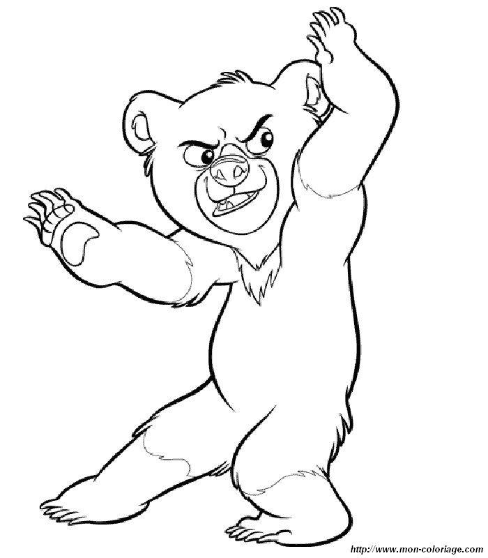 Colorare koda fratello orso disegno disegni koda fratello for Masha e orso disegni da colorare