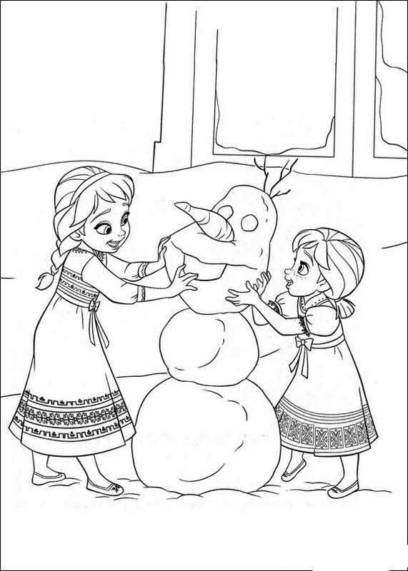 Disegni Da Colorare Elsa E Olaf.Colorare Frozen Il Regno Di Ghiaccio Disegno Elsa Anna E Olaf