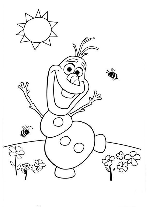 Colorare Frozen Il Regno Di Ghiaccio Disegno Olaf Ha Scoperto La