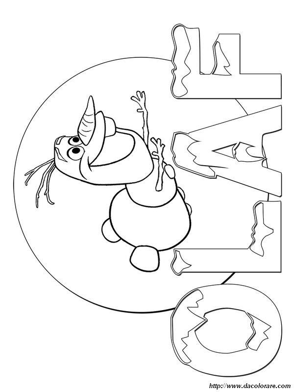Colorare Frozen Il Regno Di Ghiaccio Disegno Olaf Fa Lo Snowboard