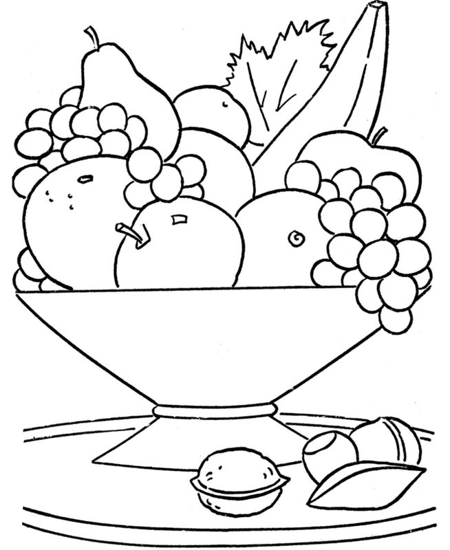 Food Coloring Fruit Page Printable