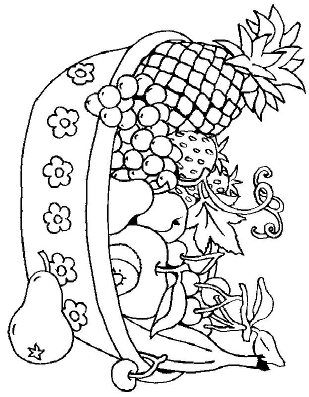 Colorare frutta disegno un cesto di frutta for Cesto di frutta disegno