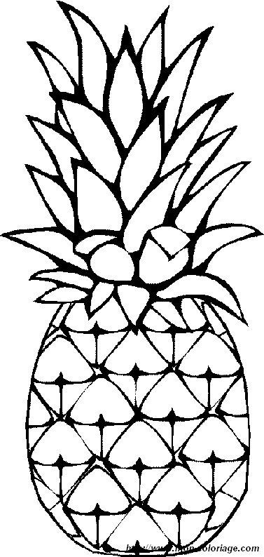 Colorare Frutta Disegno Ananas 1
