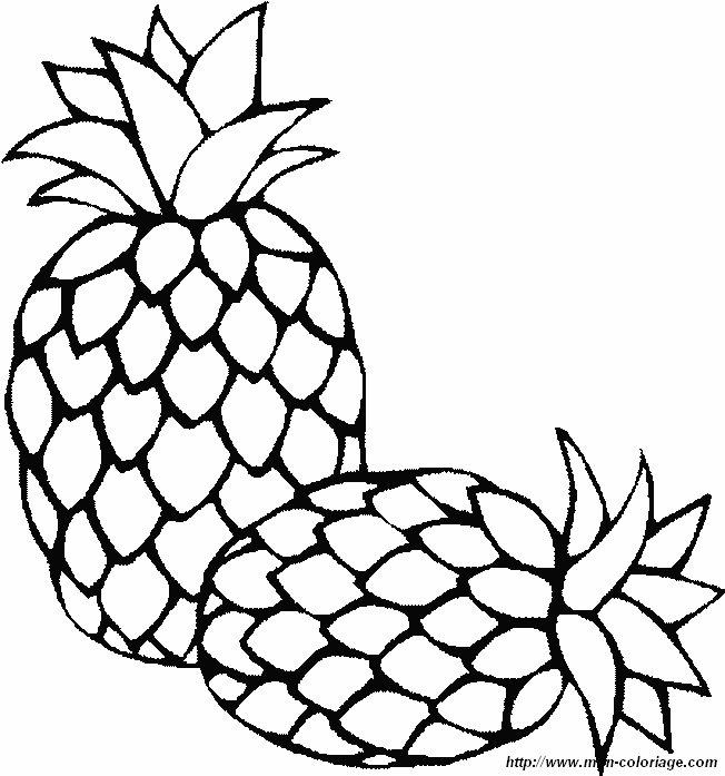 Colorare Frutta Disegno Ananas