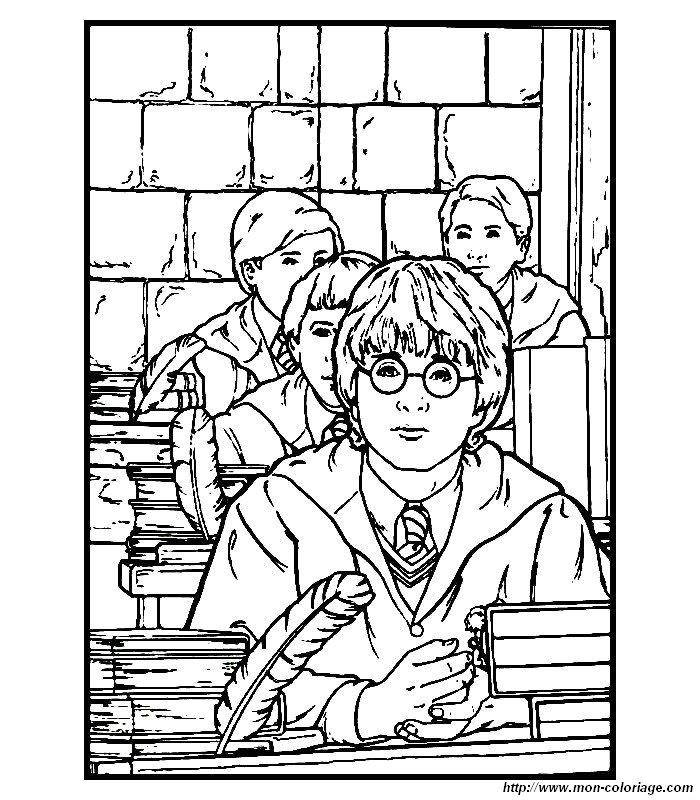Colorare Harry Potter Disegno Harry Potter 3