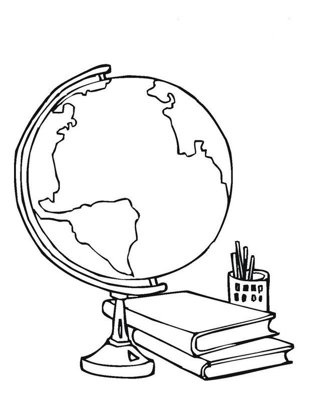Colorare Per Insegnante Disegno Il Globo Terrestre