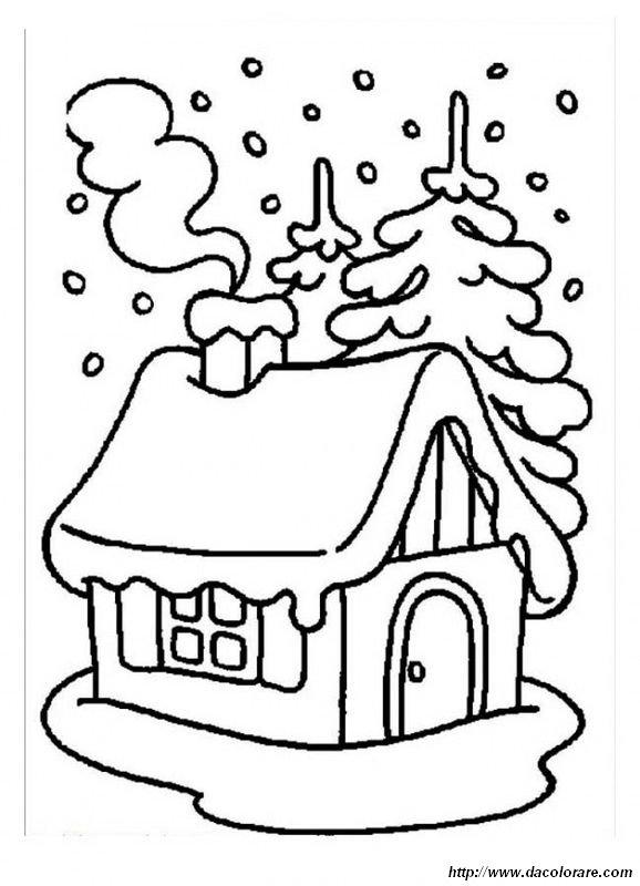 Inverno Immagine Da Colorare N 22213 Cartoni Da Colorare