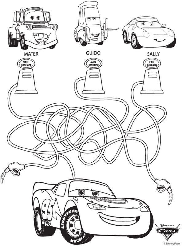 Colorare Giochi Di Labirinto Disegno Cars Disney