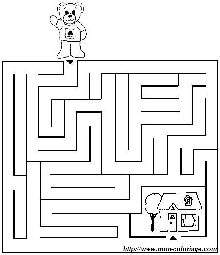Colorare giochi di labirinto disegno labirinto 2 for Giochi da disegnare e colorare
