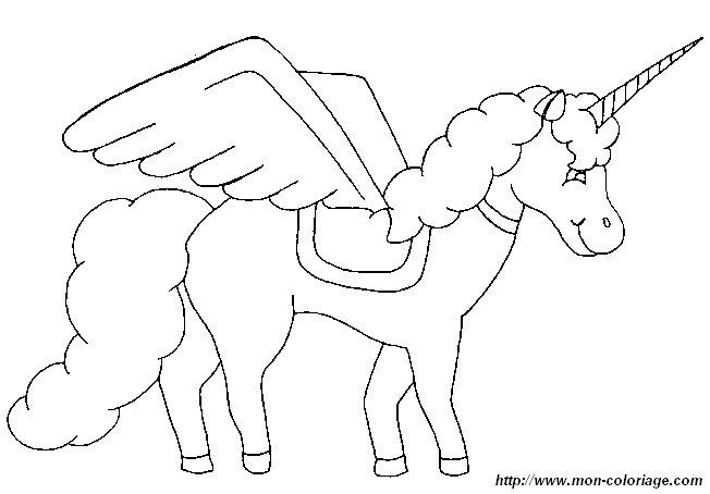 colorare unicorno disegno 3