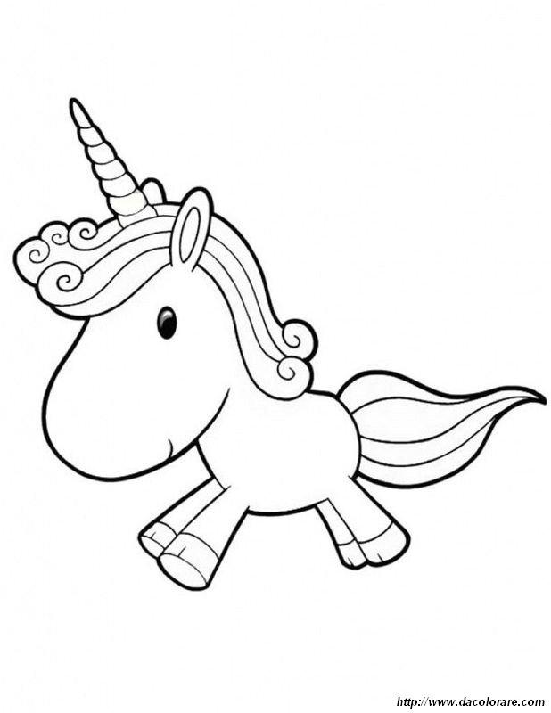 Colorare Unicorno Disegno Per I Bambini