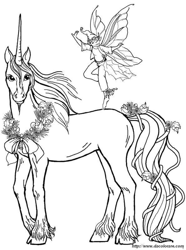 Colorare unicorno disegno un elfo speciale - Elfo immagini da stampare gratuitamente ...