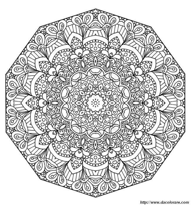 Colorare Mandala Disegno Foglie E Fiori
