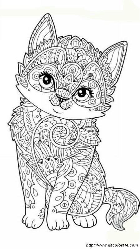 Colorare mandala disegno gattino da colorare per gli adulti for Disegni da colorare per adulti paesaggi