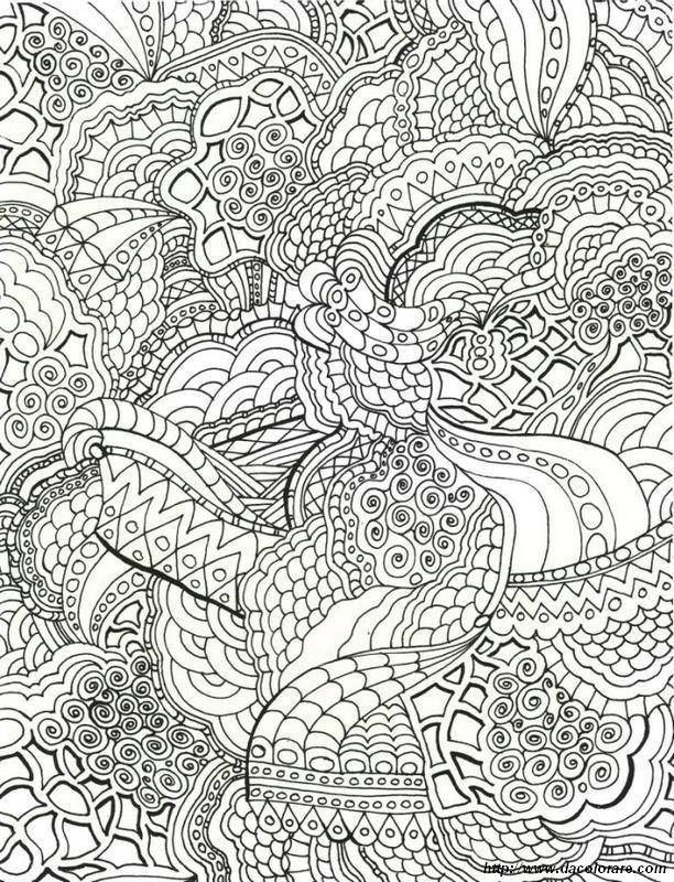 Colorare Mandala Disegno Mandala Difficile Per Gli Adulti
