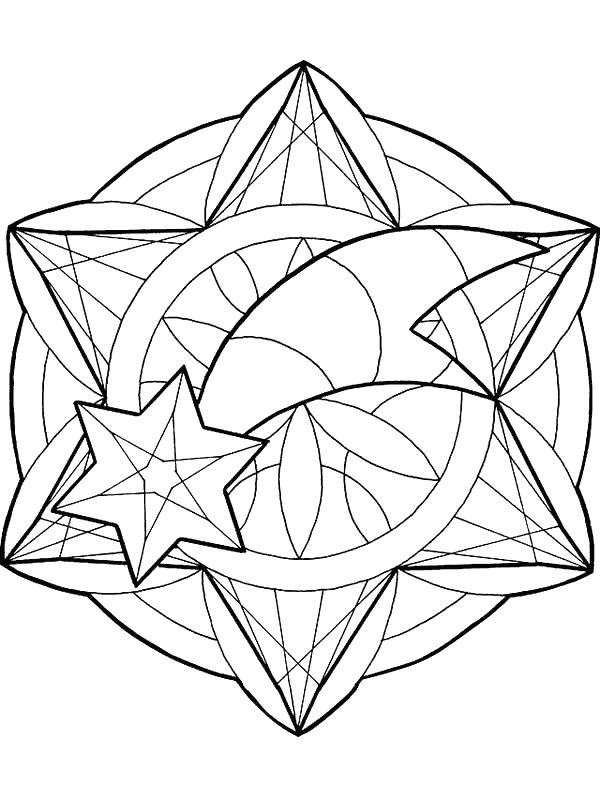 Stella Cadente Di Natale.Colorare Mandala Disegno Natale Stella Cadente