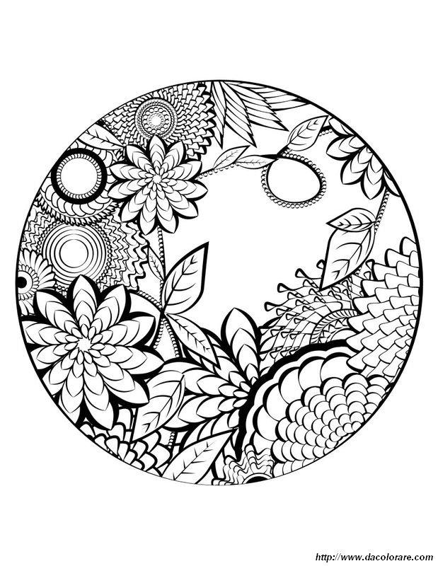 Colorare Mandala Disegno Per La Primavera
